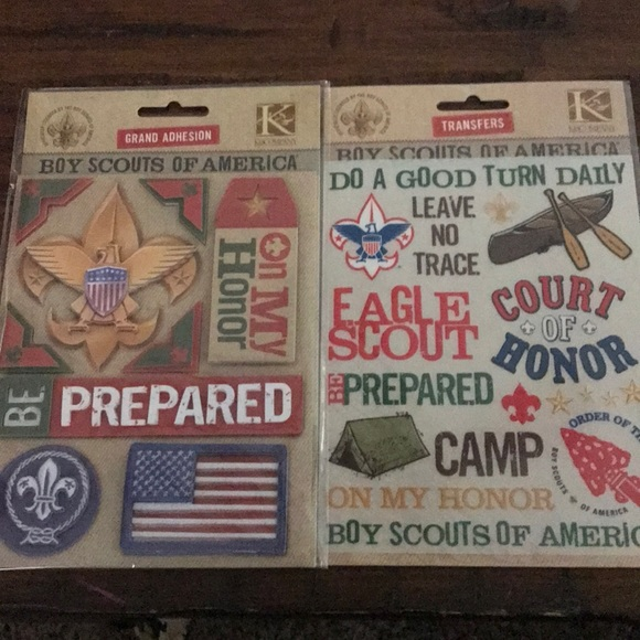 K Company Accessories Brand New Boy Scout Scrapbook Stickers